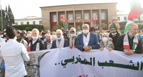 وقفة تضامنية أمام البرلمان للتنديد بالعدوان الصهيوني ضد الشعب الفلسطيني