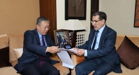 السفير الصيني بالرباط يقدم للعثماني لمحة عن جهود بلاده لمواجهة وباء كورونا