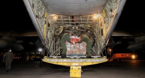 المغرب يرسل 8 طائرات محملة بمساعدات غذائية إلى لبنان