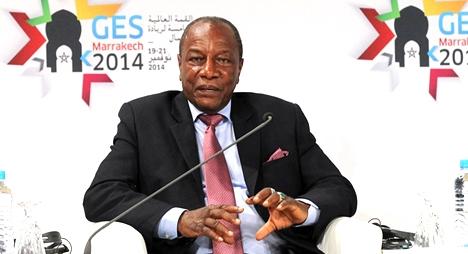 من مراكش:  رئيس غينيا كوناكري  يتضامن مع المغرب ضد عقوبات الكاف