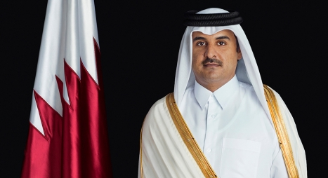 """أمير قطر يعزي جلالة الملك في ضحايا """"حافلة الرشيدية"""""""