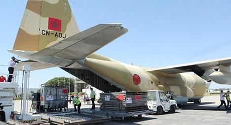 وصول أربع طائرات مغربية إلى تونس محملة بالمساعدة الطبية العاجلة