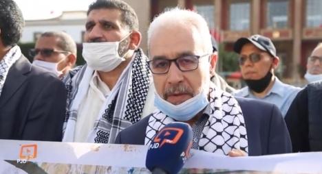 شيخي: وقفة التضامن مع فلسطين تعبير عن رفض الشعب المغربي للتطبيع