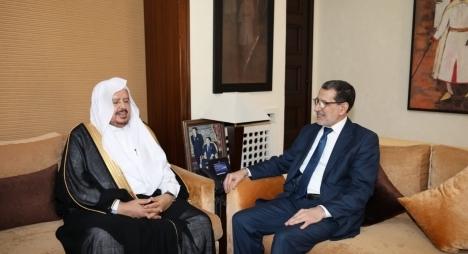 رئيس الحكومة يستقبل رئيس مجلس الشورى السعودي