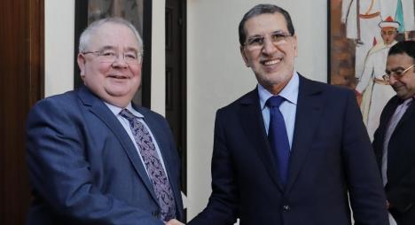 العثماني يتباحث مع رئيس البرلمان الايرلندي تعزيز علاقات الشراكة والتعاون