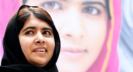 """""""ملالا"""" أصغر حائزة على جائزة نوبل للسلام"""