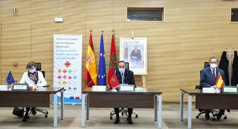 اعمارة يترأس حفل اختتام عقد توأمة لتأمين نقل البضائع الخطيرة عبر الطرق بين المغرب وإسبانيا