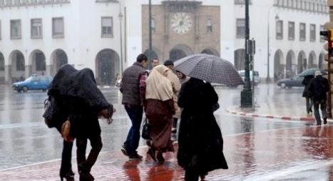 نشرة إنذارية..أمطار قوية وعاصفية من المستوى البرتقالي بعدد من مناطق المملكة