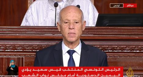 رئيسا مجلس النواب والمستشارين يمثلان جلالة الملك في حفل تنصيب الرئيس التونسي