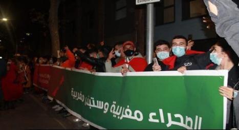"""وقفات احتجاجية لمغاربة اسبانيا تنديدا بالممارسات الاجرامية لـ""""البوليساريو"""""""