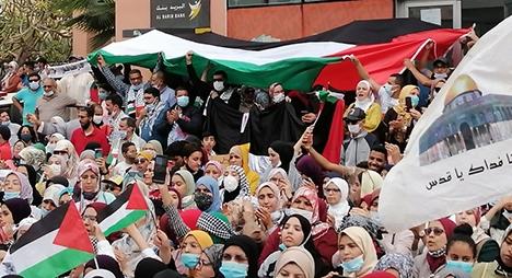 مدن مغربية تنتفض دعما لفلسطين ضد غطرسة وجرائم الاحتلال الصهيوني