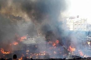 """رئيس مقاطعة بني مكادة يوضح بخصوص حريق سوق """"..."""